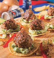 Канапе с мясными шариками (Мексиканская кухня).