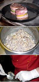Рецепт медальонов из оленины с черничным соусом и кнелями из лисичек.