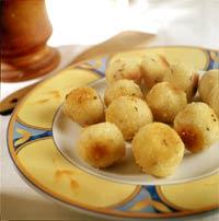 Шарики картофельные с тмином.
