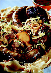 Бесбармак, мясо по-казахски.