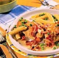Курица с пенне в сливочном соусе (Итальянская кухня).