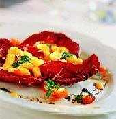 Клецки в соусе из сладкого перца (Итальянская кухня).