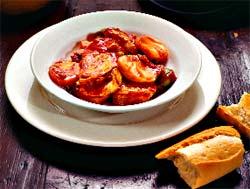 Матлот из белой рыбы (Итальянская кухня).