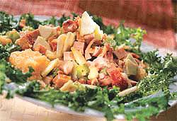 Салат из мясного ассорти.