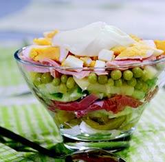 Праздничный картофельный салат.