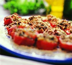 Запеченные томаты (Французская кухня).