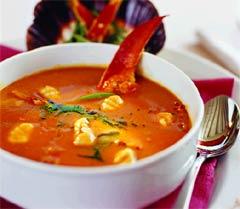 Суп из омара с клецками.