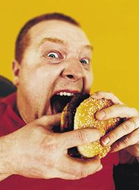 Здоровая пища или сочный гамбургер?