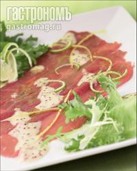 Карпаччо из красной рыбы – кулинарный рецепт